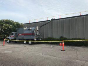 vacuum truck ballast rock removal