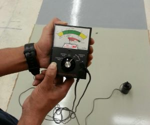Electrostatic dissipative floor coating