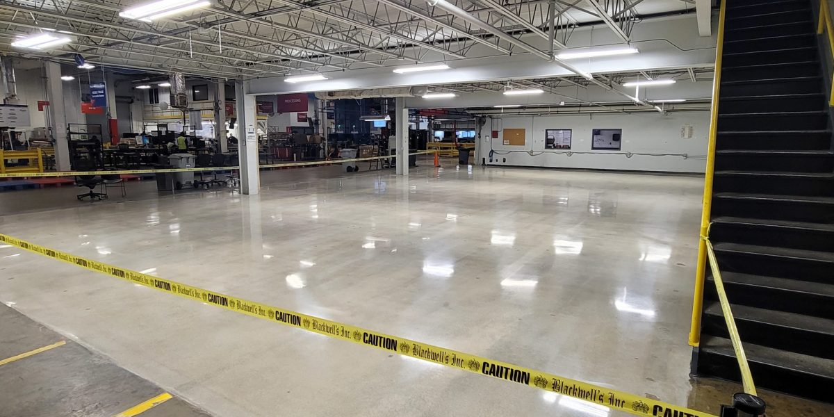 1500 grit polished floor meeting specifications of survey
