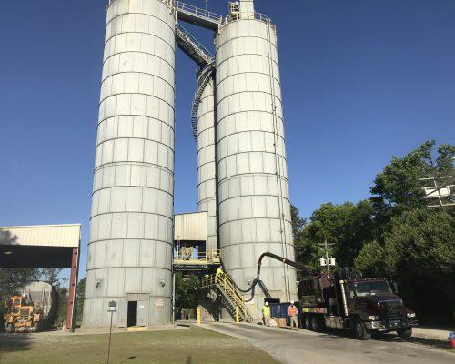 GapVax Vac Truck Cemex silo remove blockage1