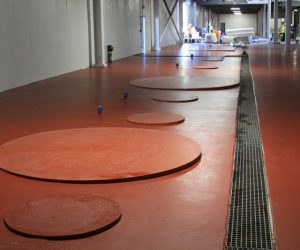Floor pad construction and coating