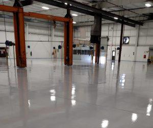 Respirable floor coating