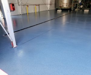 Slip and chemical resistant flooring