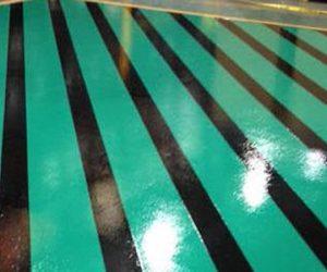 Floor striping
